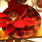Red christmas tableware