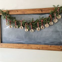 Rustic Christmas Wreath Gerland DIY