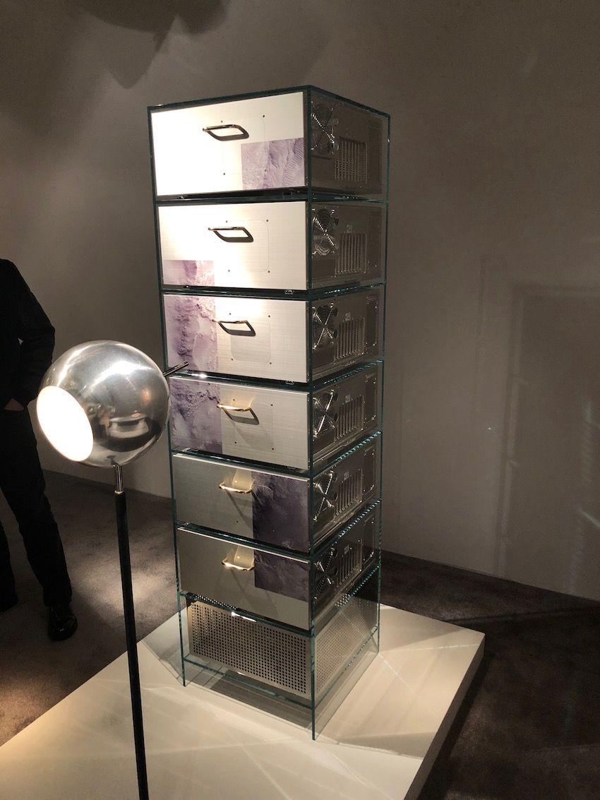This cabinet is an example of what luxury recycled furniture can look like.