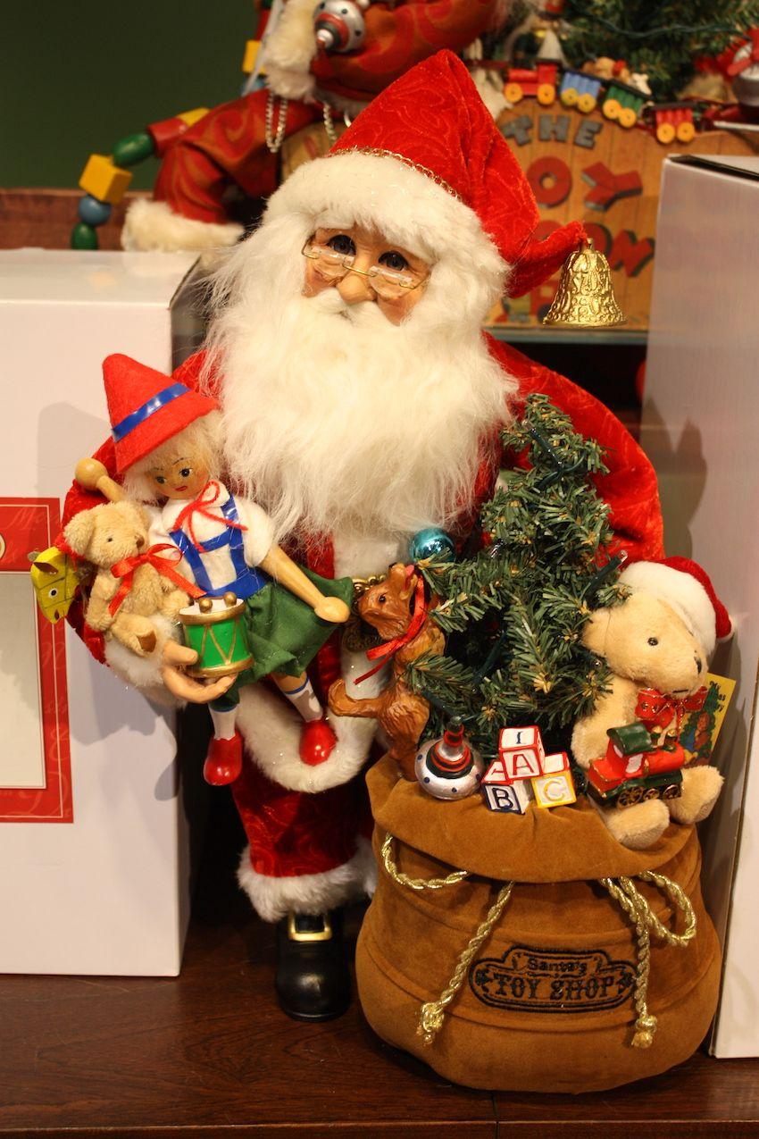 Modern Santas have a bag of toys.