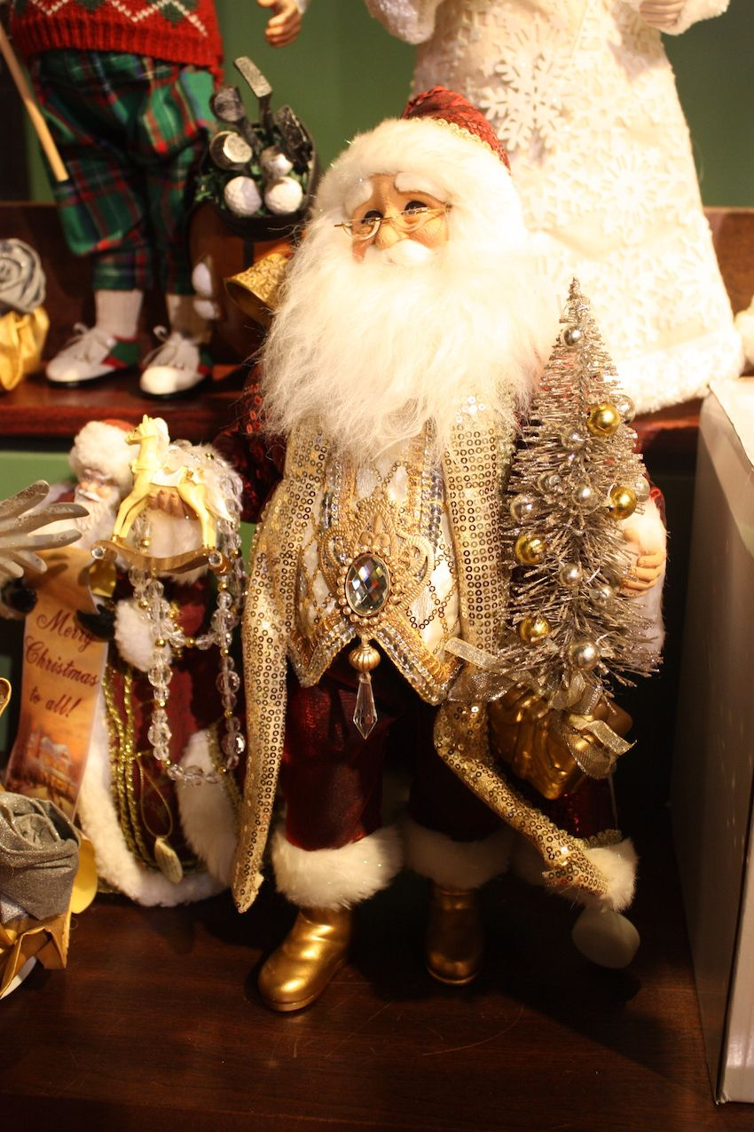 Elements of old and new are part of this Santa's outfit.