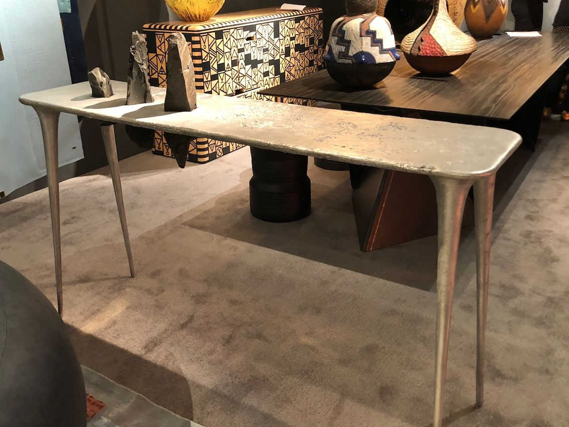 Unusual forms elevate simple lines as in this table.