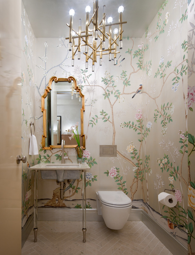 Statement wallpaper is very popular for bathrooms.