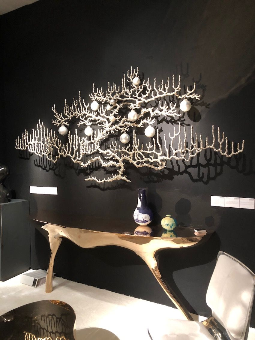 This wall element is a large-scale piece of jewelry.