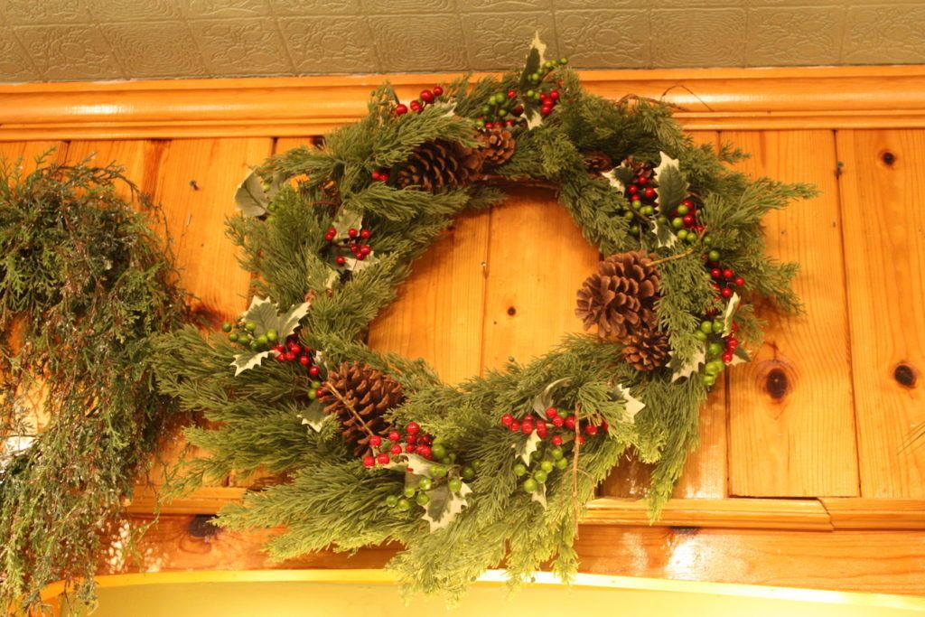 Traditional wreaths are an easy and appropriate choice for any home.