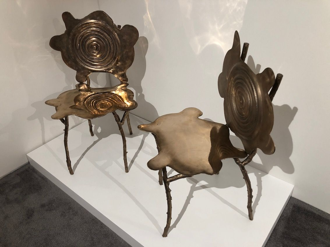 Natural forms are frequent themes in this designer's works.