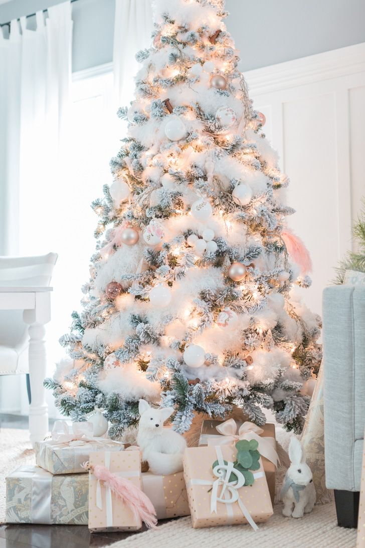 How To Make A White Christmas Tree The Centerpiece Of Your ...