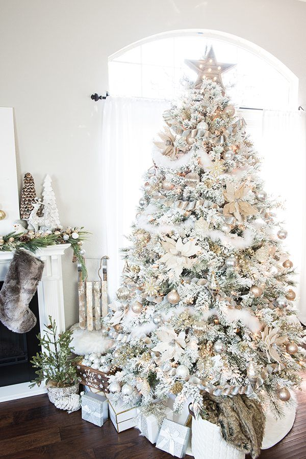 White Christmas Tree Design.How To Make A White Christmas Tree The Centerpiece Of Your