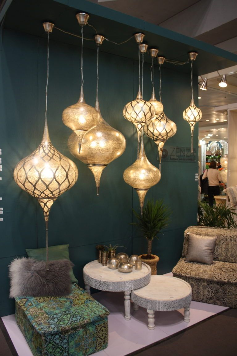 Zetta's pendants are exotic and create a relaxed mood.