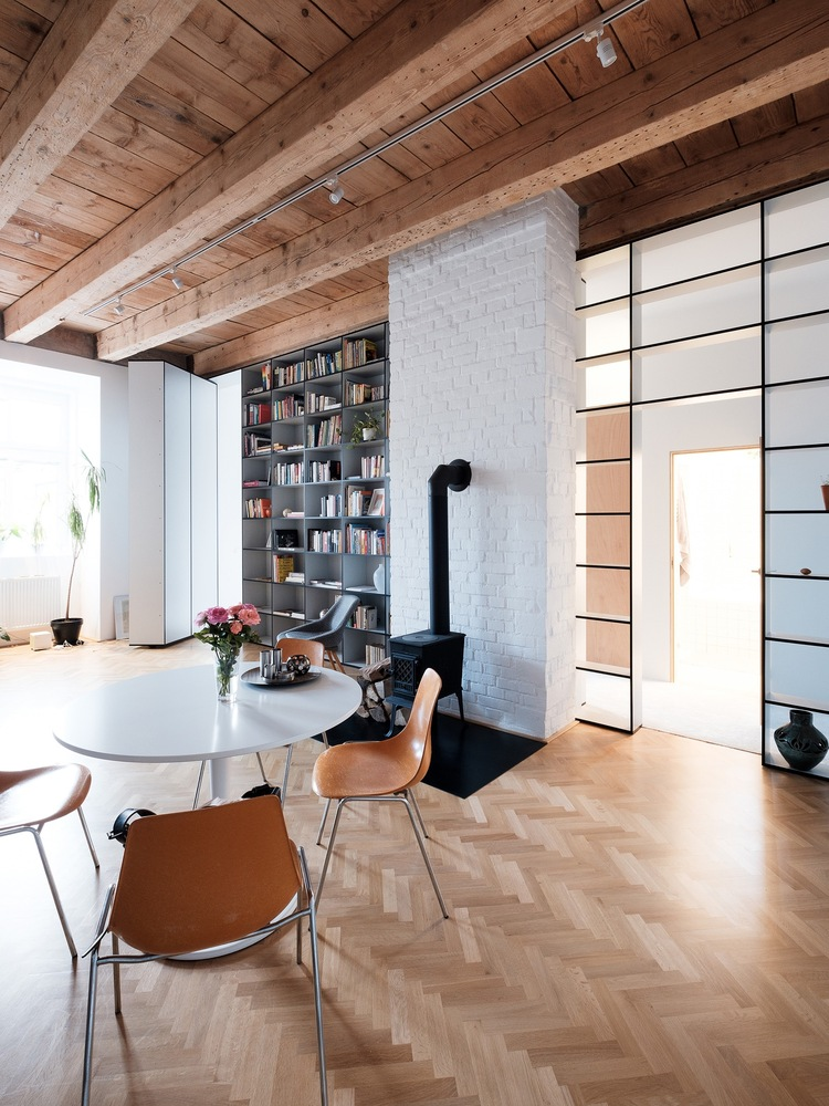 There's a great sense of openness and cohesion throughout the apartment