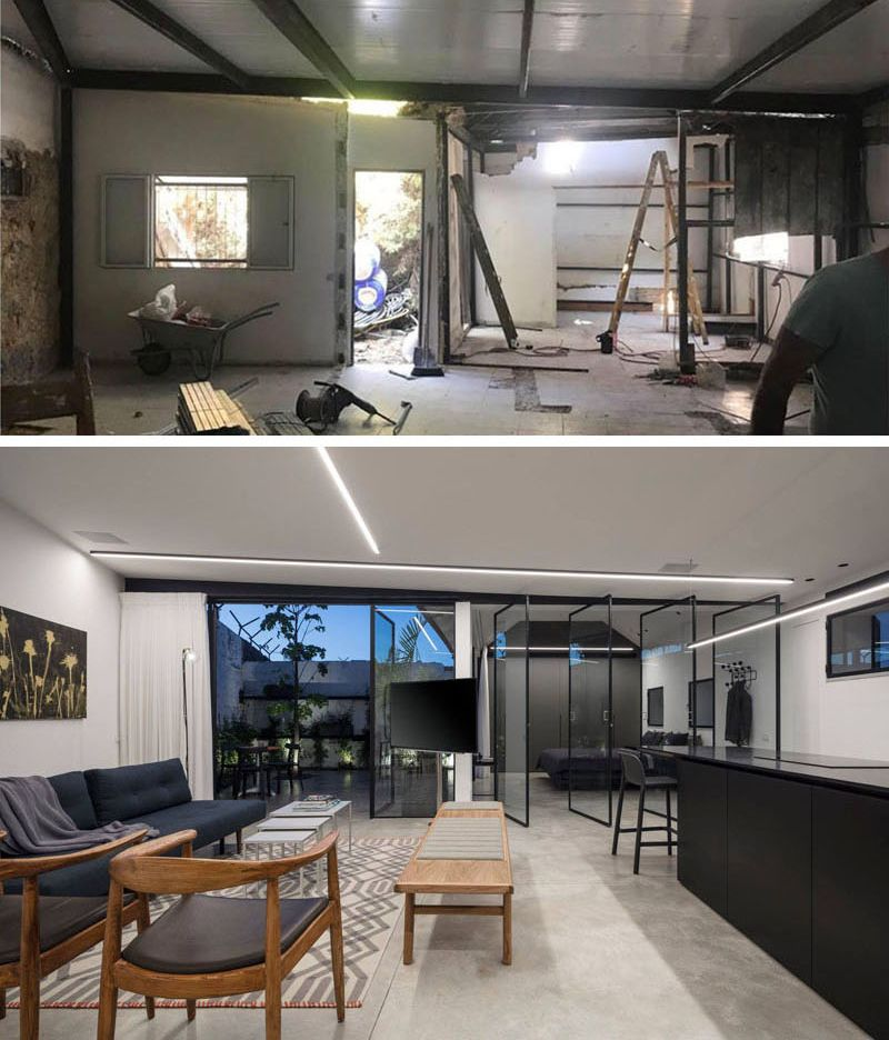 24 amazing before and after home renovations - Living room renovation before and after ...