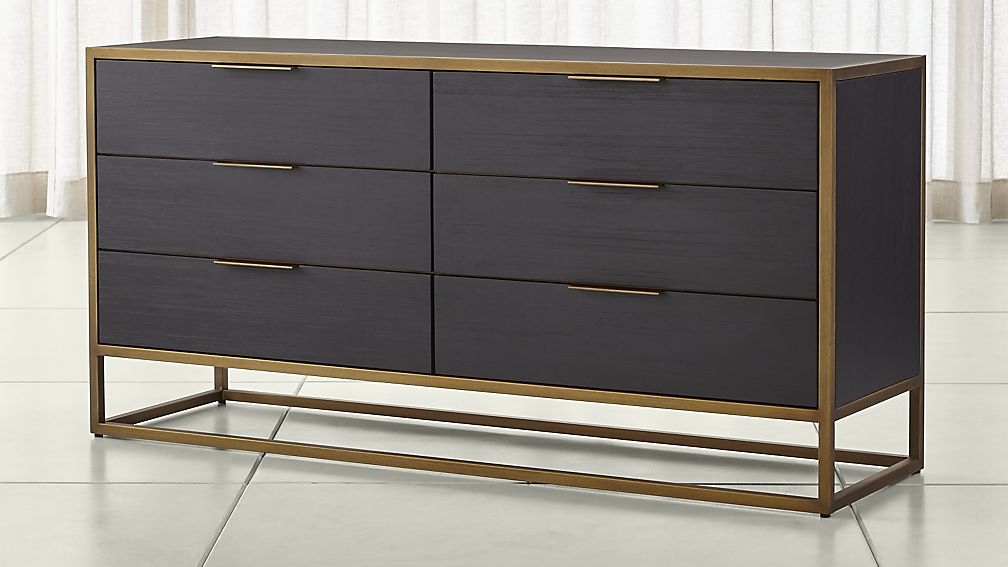 Black and gold metallic glint dresser