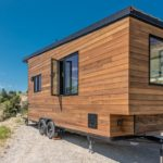 Cedar Oliver Stankiewicz and Cera Bollo tiny cabin on wheels