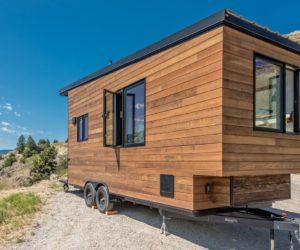 Cedar Oliver Stankiewicz and Cera Bollo tiny cabin on wheels