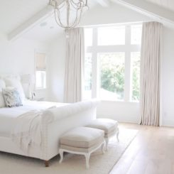 French white bedroom interior design