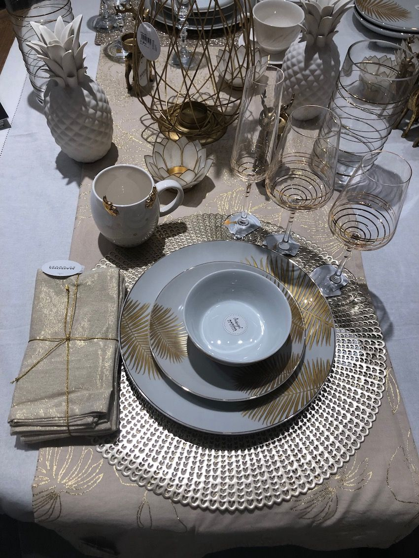 Touches of gold make this tableware ideal for special occasions too.