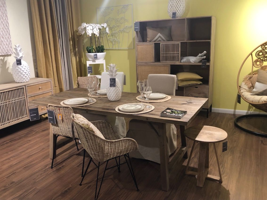 Dining sets are versatile and comfortable, never stuffy or pretentious.