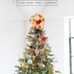 Pompom Christmas tree toppper
