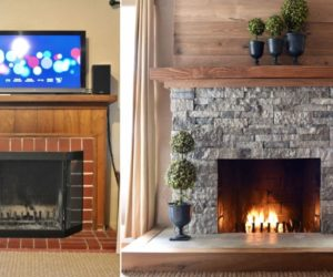 Take The Winter Head On With A Cozy Fireplace Makeover