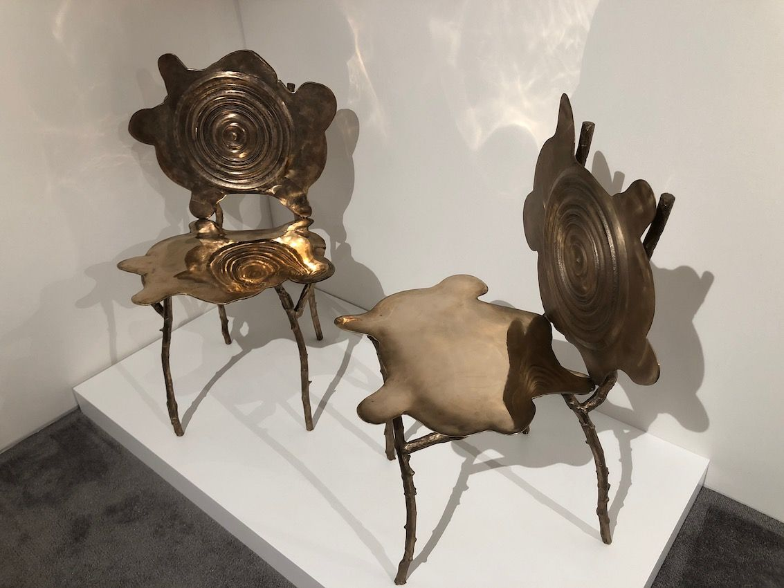 These Rorschach chairs are too special to hide under a dining table.