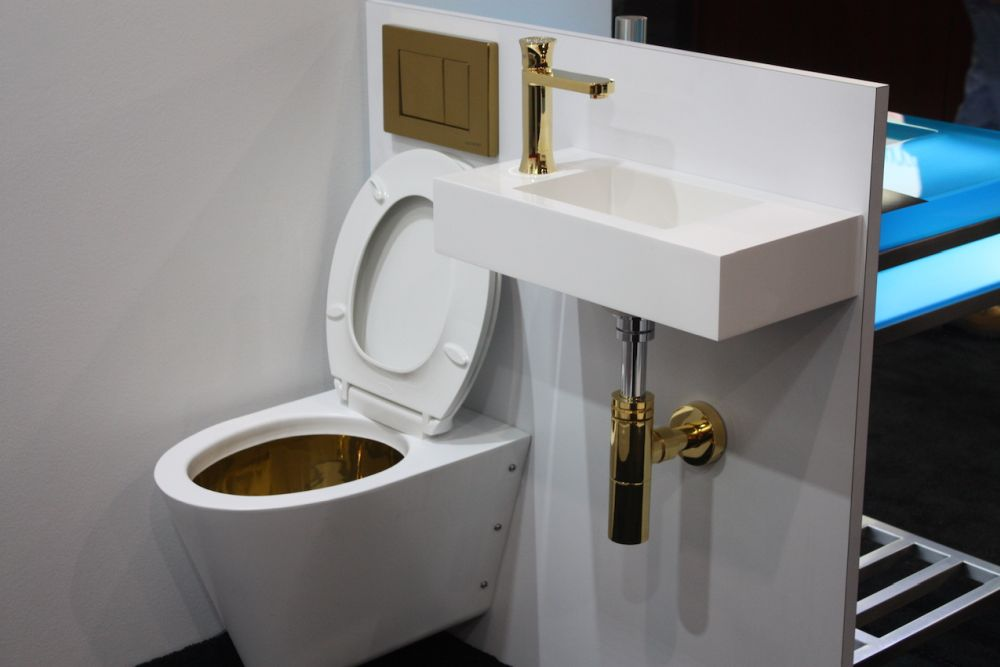 Homeowners want exposed plumbing to look as nice as the rest of the hardware as in this NeoMetro bathroom.