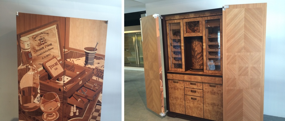 A bar cabinet/humidor can also be a master work of art.