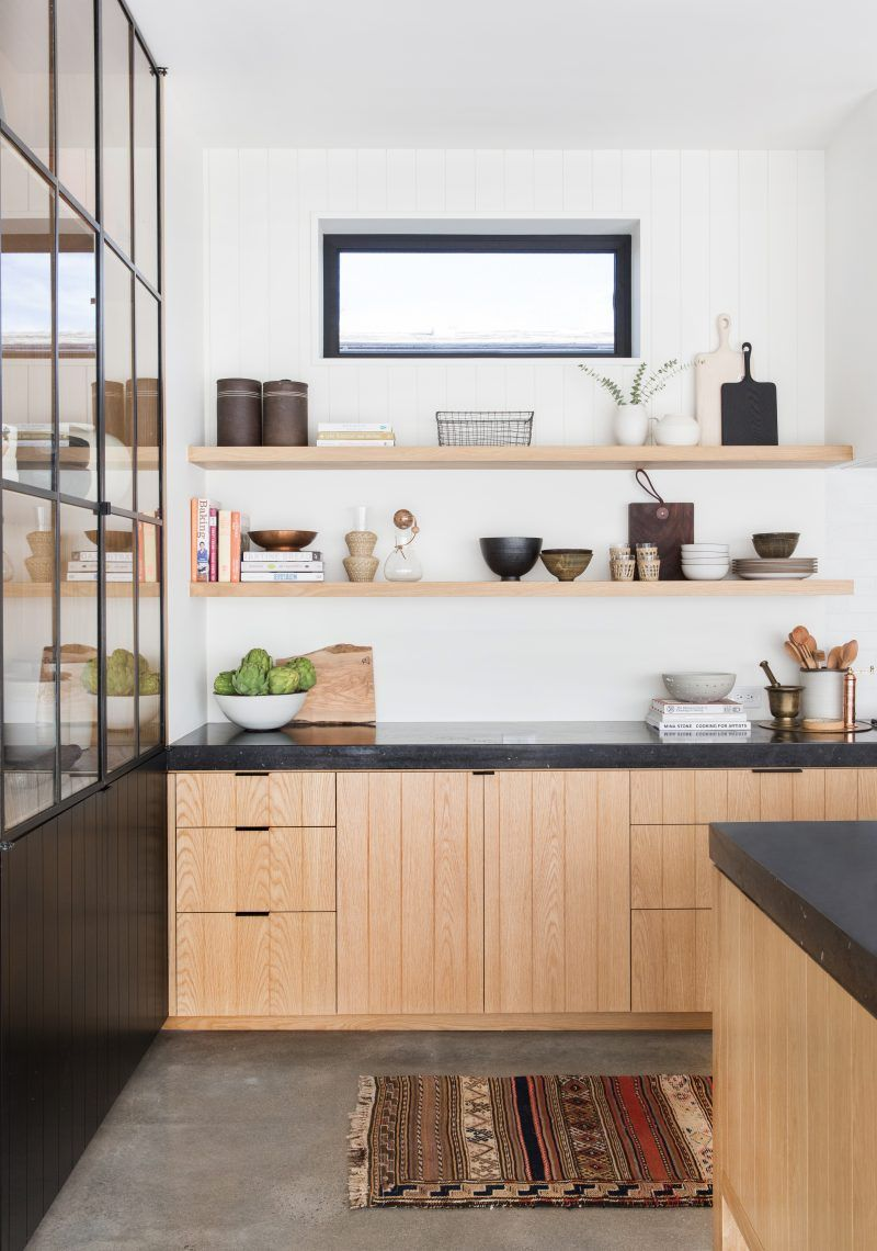 open shelving is the most practical solution