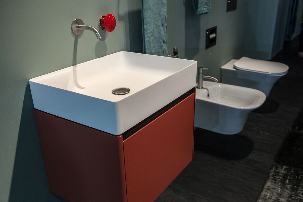 Floating vanities are ideal for smaller bathrooms.