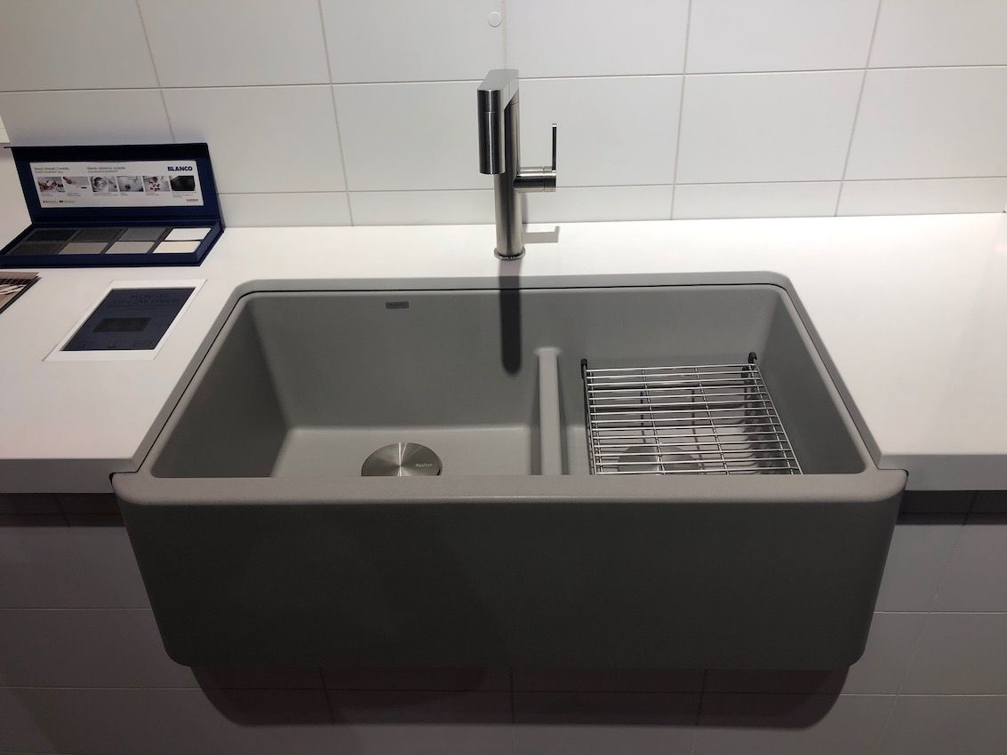 This durable sink has the look of concrete with easier care.