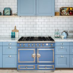 Blue shade kitchen layout color