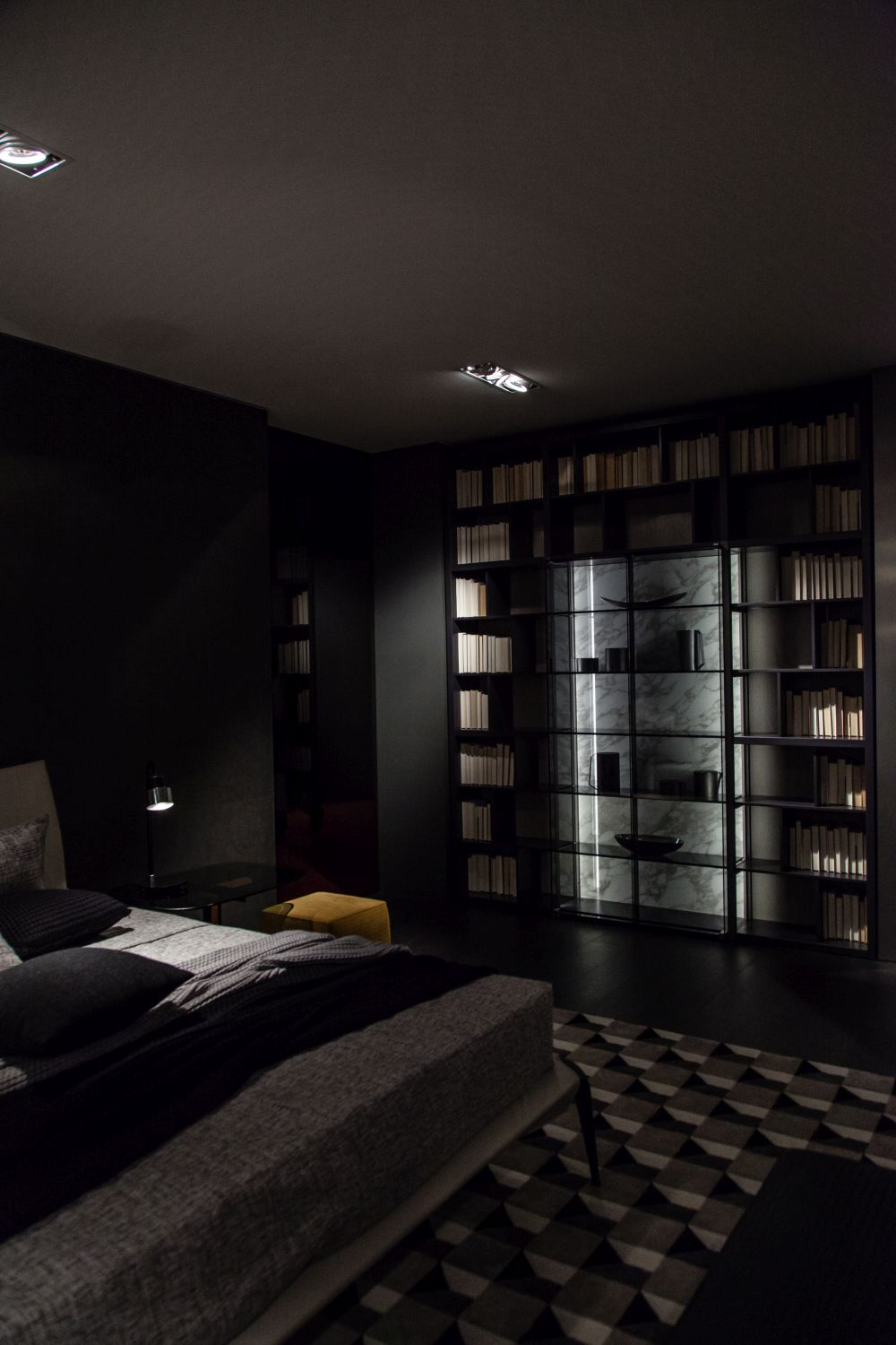 Add accent lighting to your bookcase for a subtle yet dramatic impact