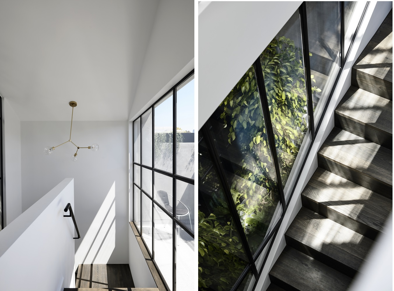 The atrium helps to bring more light into the house and to visually connect certain spaces