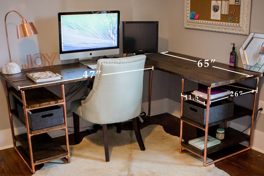 Simple and Versatile DIY Desks From Pipes And Wood