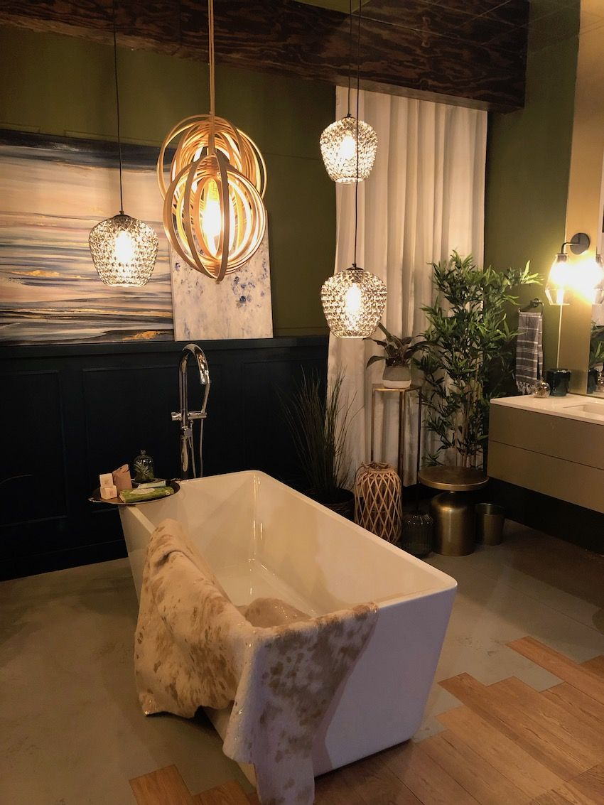A soaking tub should be the focus of a bathroom design.