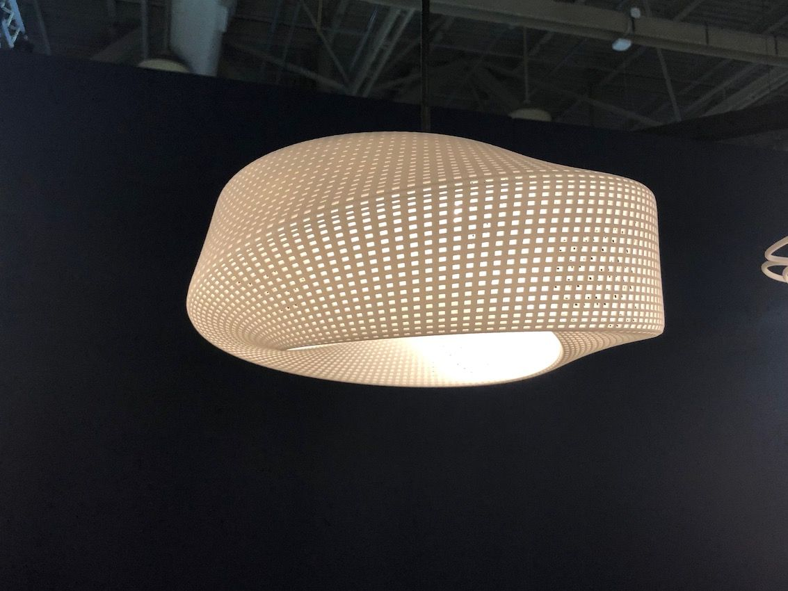 3D printing can now yield larger, more complex lighting fixtures than it used to.
