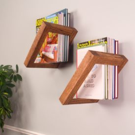 Geometric Hanging Wall Shelves