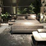 Gray leather master bedroom decor