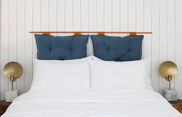 Cabecero de almohada doble colgante