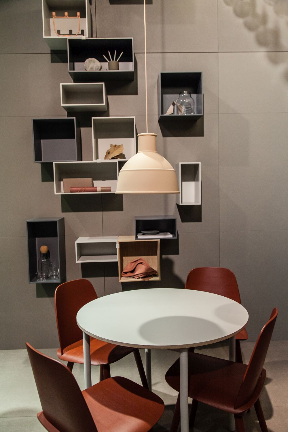 Multiple individual modules put together can be a fun alternative to the regular bookcase unit