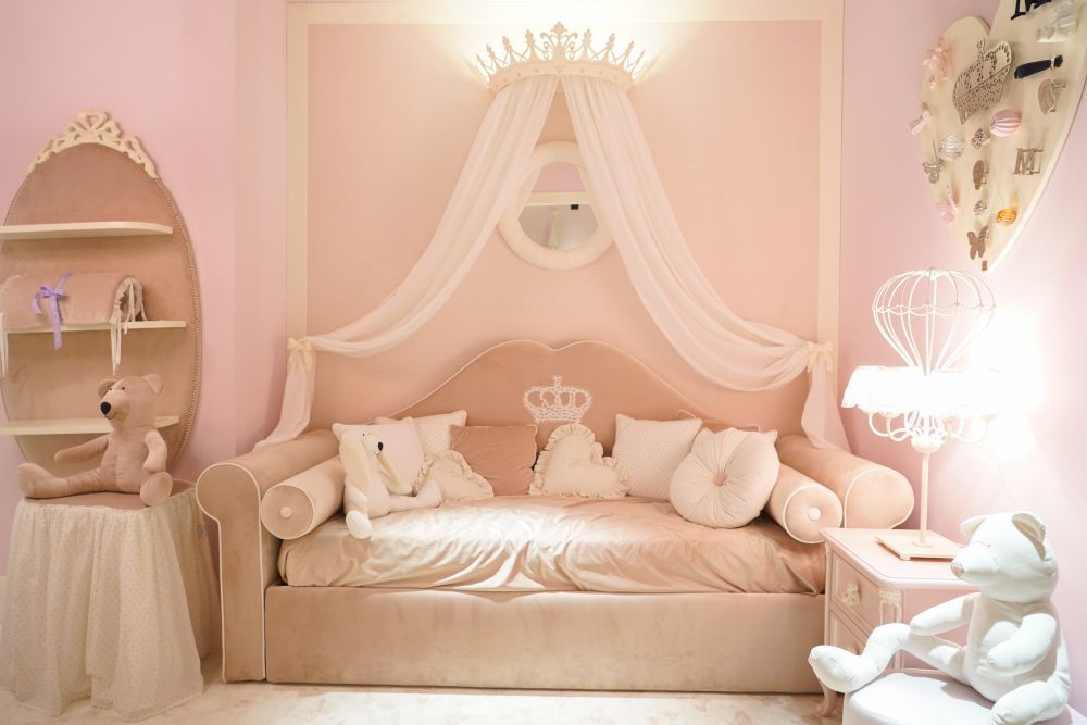 A princess-themed bedroom is easy to do.