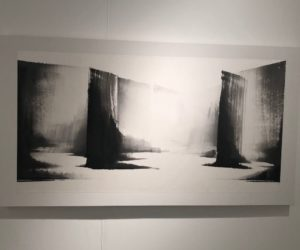 Black and white art can help evoke serenity.