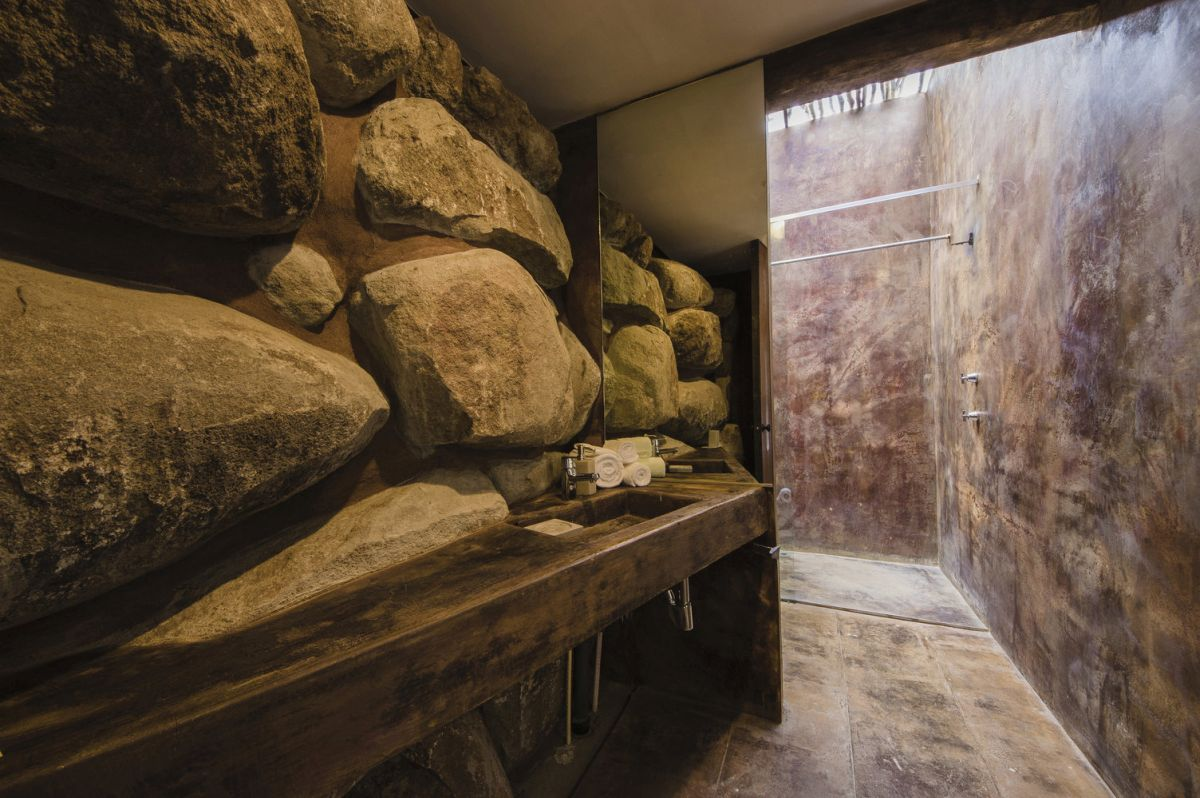 The array of materials and finishes featured throughout the house are all inspired by the surroundings