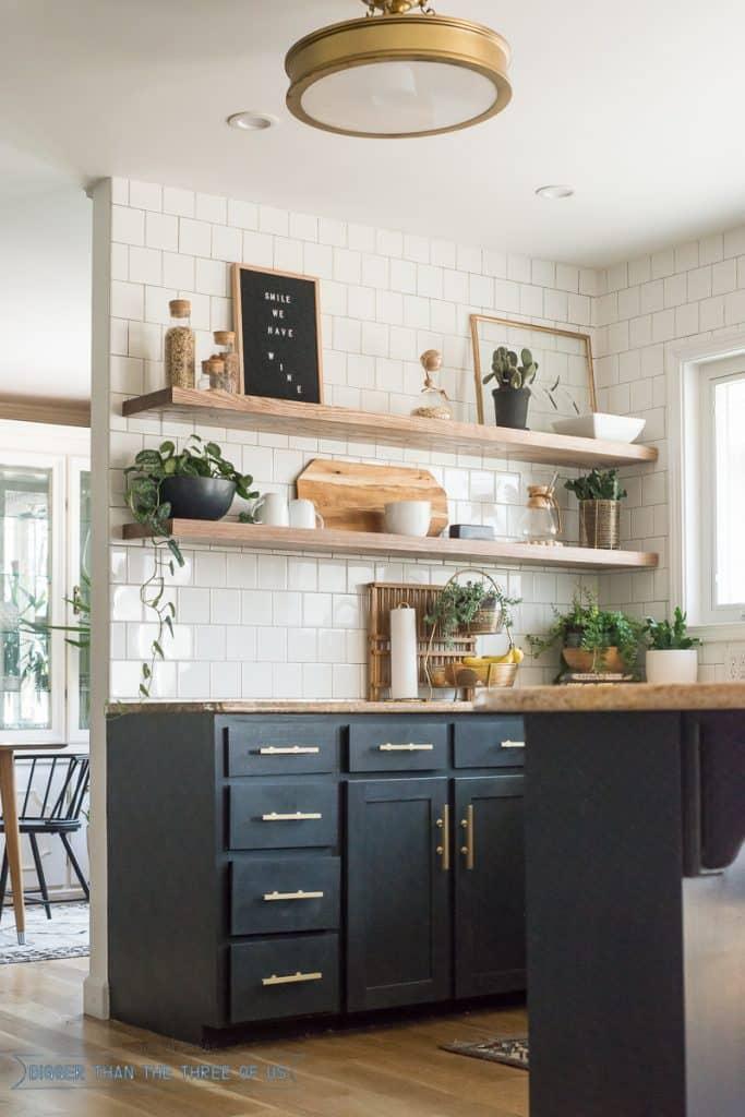 Make custom shelves to fit your kitchen