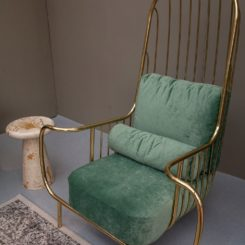 Liberty arm chair design with gold finishes