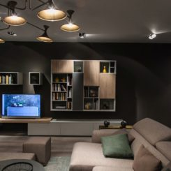 Living room tv wall unit and Bookshelves