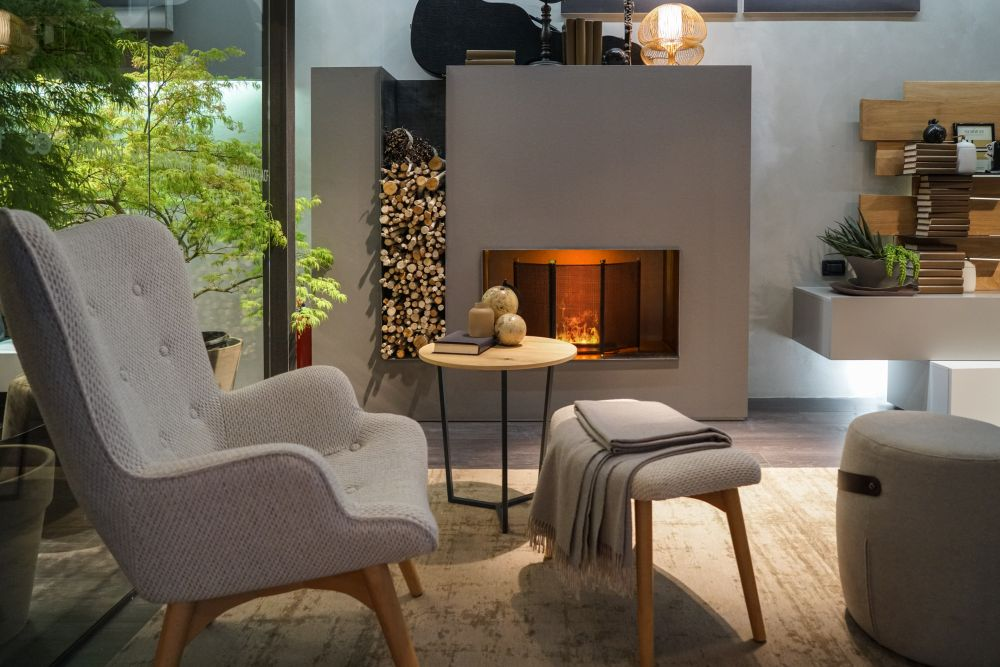 Seating areas are cozy and functional.