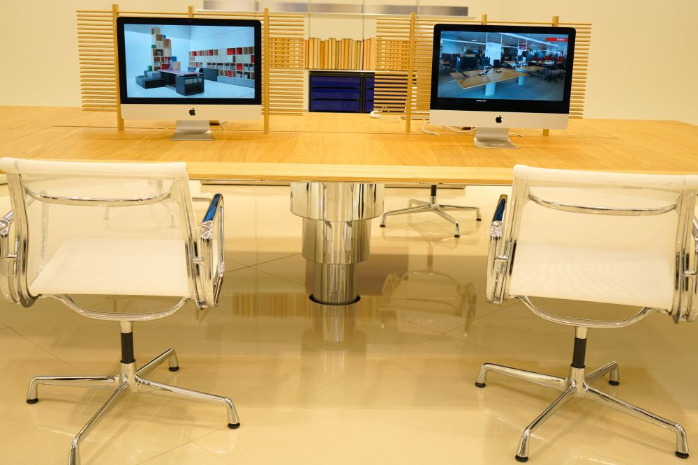 Subtle visual dividers are ideal for open plan workspaces.