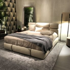 Master bedroom decor design with floor lights