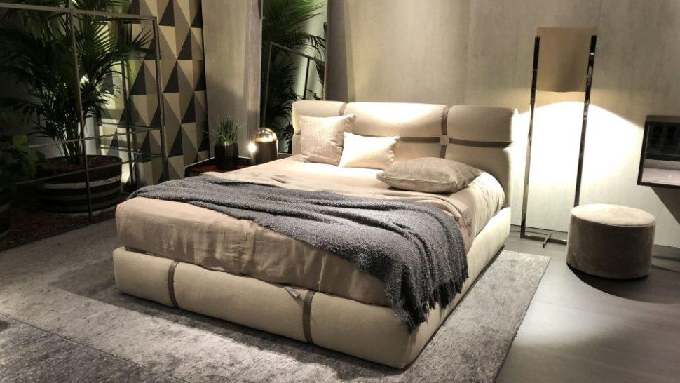 Master bedroom decor design with floor lights
