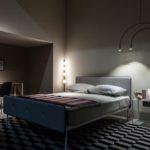 Minimalist bedroom interior design with desk area